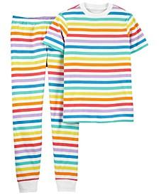 Adult Unisex 2-Pc. Rainbow Snug Fit Family Pajamas