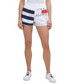 Women's Striped Logo Shorts