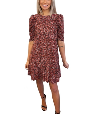 Ditsy Floral Puff Sleeve Smock Dress