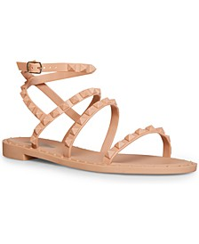 Women's Travel-J Studded Flat Jelly Sandals
