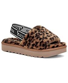 Koolabura by UGG® Women's Fuzz'n II Cheetah Slipper Sandals