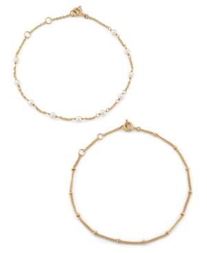 Imitation Pearl Chain Bracelet