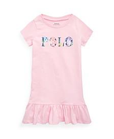 Toddler Girls Floral-Logo Jersey T-shirt Dress