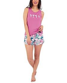 Snoopy Floral Pajama Shorts Set