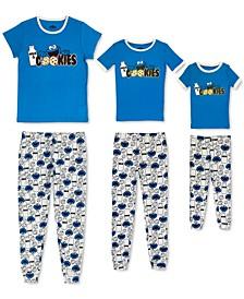 Women's, Big Kid & Toddler Cookie Monster Mommy & Me Pajama Set