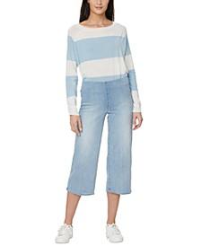 Wide-Leg Capri Pull-On Jeans