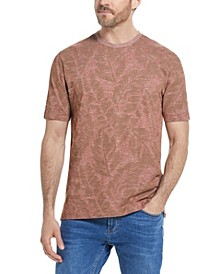 Men's Micro Stripe Slub Jersey Printed T-shirt
