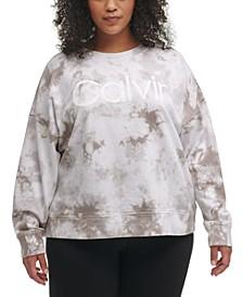 Plus Size Tie-Dyed Pullover Sweatshirt