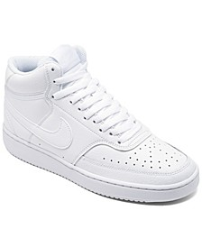 Women's Court Vision Mid Casual Sneakers from Finish Line