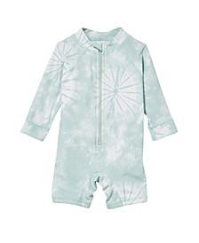 Baby Boy Cameron Long Sleeve Swimsuit