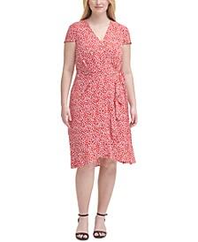 Plus Size V-Neck Wrap Dress