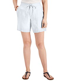 Petite Linen Shorts, Created for Macy's