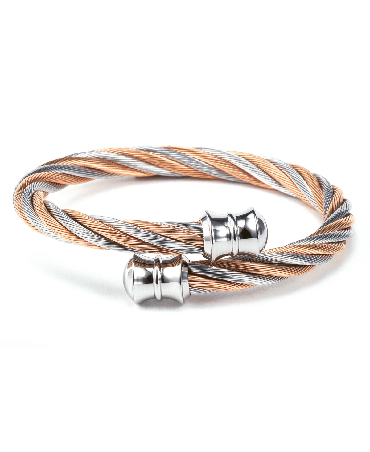 Celtic, Stainless steel Two Tone Bangle, Stainless steel rose gold Pvd cable