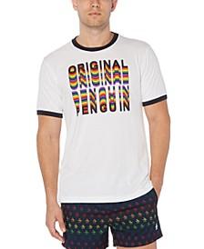 Men's Pride Rainbow Logo Graphic Ringer T-Shirt