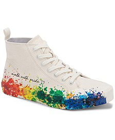 x Trevor Project Brycen Lace-Up High-Top Pride Sneakers