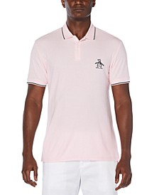 Men's Mega Pete Slim-Fit Logo Embroidered Tipped Piqué Polo Shirt