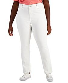 Plus Size White Skinny Jeans