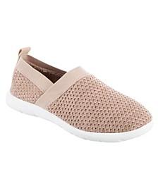 Zenz from Isotoner Women's Indoor/Outdoor Elastic Sport Knit Elastic Slip-Ons