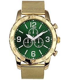 INC Men's Gold-Tone Mesh Bracelet Watch 48mm, Created for Macy's