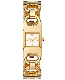 Women's Double T-Link Gold-Tone Stainless Steel Bracelet Watch 22mm