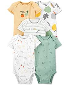 Baby Neutral 5-Pack Short-Sleeve Bodysuits