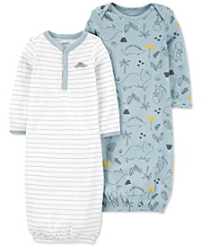 Baby Boys 2-Pack Sleeper Gowns