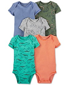 Baby Boys 5-Pack Short-Sleeve Bodysuits