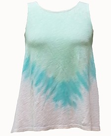 INC Plus Size Cotton Tie-Dyed Tank Top, Created for Macy's