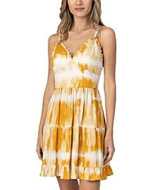 Juniors' Tie-Dye-Print Dress