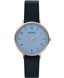 Women's Aaren Naturals Blue Bio-Based Polyurethane Strap Watch, 36mm
