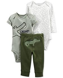 Baby Boys 3-Pc. Alligator Little Character Set