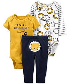 Baby Boys 3-Pc. Lion Little Character Set