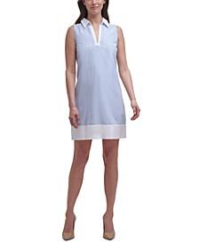 Sleeveless Collared Shift Dress