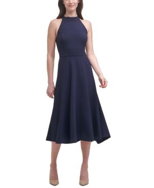 Halter-Neckline Midi Dress