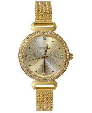 Women's Gold-Tone Effect Mesh Bracelet Watch