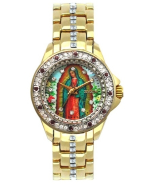 Women's Our Lady of Guadalupe Gold-Tone Metal Bracelet Watch
