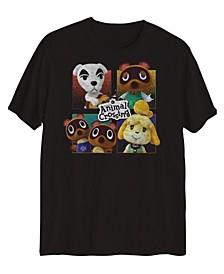 Big Boys Animal Crossing Grid Welcome T-shirt