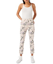 Floral-Print High-Rise Jeans