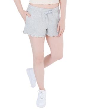 Juniors' Lettuce-Hem Sweat Shorts