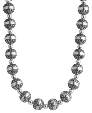by Carolyn Pollack Sterling Silver Native Pearl Necklace 17 to 20 Inch