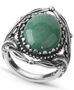 by Carolyn Pollack Green Turquoise Gemstone Statement Ring in Sterling Silver