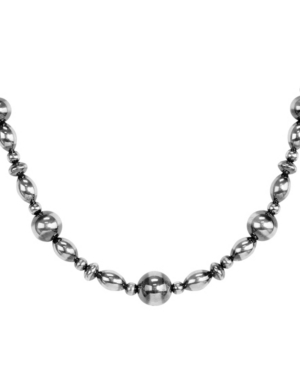 by Carolyn Pollack Two Tone Native Pearl Beaded Necklace in Sterling Silver