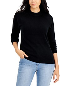 Petite Cotton Luxsoft Mock-Neck Sweater, Created for Macy's