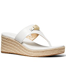 Tilly Thong Espadrille Wedge Sandals