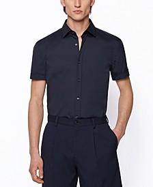 BOSS Men's Short-Sleeved Slim-Fit Shirt
