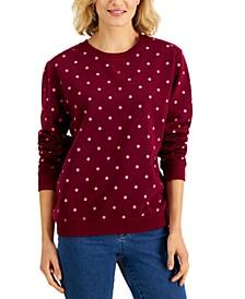 Dot-Print Sweatshirt, Created for Macy's