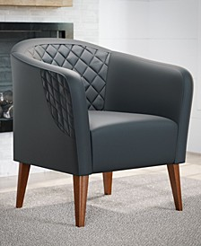 Upholstered Barrel Accent Chair