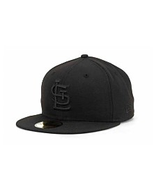 New Era St. Louis Cardinals Black on Black Fashion 59FIFTY Cap