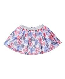 Toddler Girls All Over Print Tulle Skirt