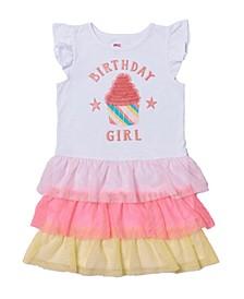 Toddler Girls Graphic Tiered Tutu Dress